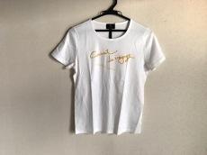 ランバンコレクション 半袖Tシャツ レディース 白×イエロー 刺繍