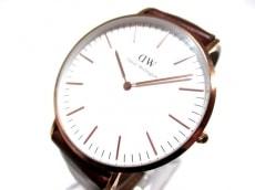 ダニエルウェリントン 腕時計 - レディース 革ベルト 白