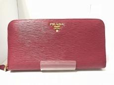 PRADA(プラダ) 長財布 - ピンク ラウンドファスナー レザー
