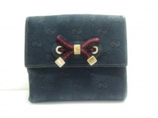 GUCCI(グッチ) Wホック財布 プリンシー/GG柄 167465 黒×レッド