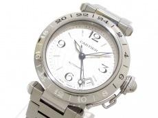 カルティエ 腕時計美品  パシャCメリディアンGMT 2タイムゾーン SS