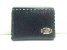 FENDI(フェンディ) Wホック財布 セレリア 8M0145 黒 レザー