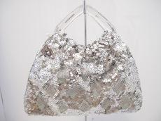 アンテプリマ ハンドバッグ - シルバー×ライトグリーン ミニバッグ