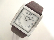 フォリフォリ 腕時計美品  - レディース 革ベルト シルバー