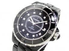 CHANEL(シャネル) 腕時計美品  J12 H1626 メンズ 12Pダイヤ/38mm 黒