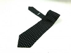 GIORGIOARMANI(ジョルジオアルマーニ) ネクタイ メンズ 黒×グレー