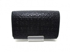 LOEWE(ロエベ) 2つ折り財布 - 黒 型押し加工 レザー