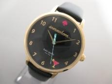 Kate spade(ケイト) 腕時計美品  KSW1039 レディース 革ベルト 黒