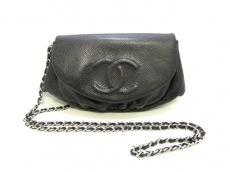 CHANEL(シャネル) 財布美品  ハーフムーン A40033 黒 キャビアスキン