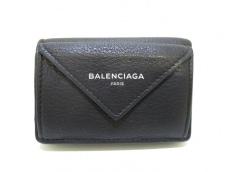 バレンシアガ 3つ折り財布美品  ペーパーミニウォレット 391446 黒