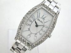 フォリフォリ 腕時計 WF5T084BPS レディース ラインストーン 白