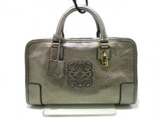 LOEWE(ロエベ) ハンドバッグ美品  アマソナ23 ゴールド レザー