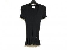 CHANEL(シャネル) 半袖セーター レディース美品  黒 レース