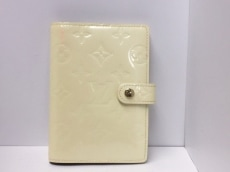 ルイヴィトン 手帳 モノグラムヴェルニ アジェンダPM R21010 ペルル