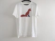 メゾンキツネ Tシャツ レディース 白×ブラウン×黒 キツネ