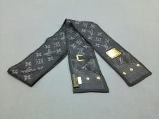 ルイヴィトン スカーフ 120 x 6 cm バンドー・ニュー デニム M72338