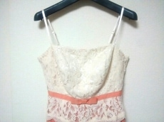 エメ ドレス サイズ9 M レディース美品  アイボリー×ピンクベージュ