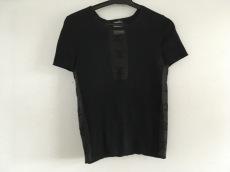 シャネル 半袖セーター レディース 黒 ココマーク/一部シースルー