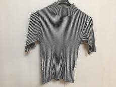 アニエスベー 七分袖カットソー サイズ2 M レディース 白×ネイビー