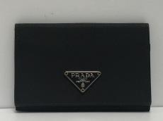 PRADA(プラダ) カードケース - 黒 ナイロン