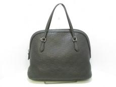 GUCCI(グッチ) ハンドバッグ美品  シマライン 420023 黒 レザー