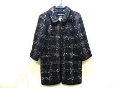 シャネル コート サイズ38 M レディース美品  黒×ピンク×白