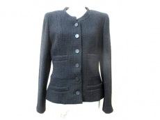 シャネル ジャケット サイズ38 M レディース美品  黒×レッド