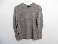 ロアー 長袖セーター サイズ2 M レディース グレーベージュ×マルチ