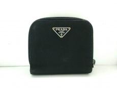 プラダ 2つ折り財布 - 黒 パスケース/ラウンドファスナー ナイロン