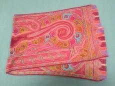 ETRO(エトロ) スカーフ美品  パープル×ピンク×マルチ ペイズリー柄