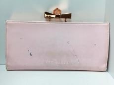 TED BAKER(テッドベイカー) 長財布 ピンク がま口/リボン