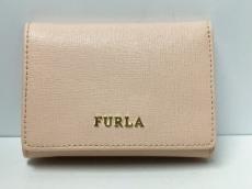 FURLA(フルラ) Wホック財布美品  ライトベージュ レザー