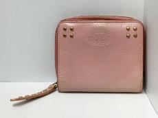 CELINE(セリーヌ) 2つ折り財布 - ピンク×ゴールド スタッズ