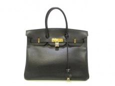 エルメス ハンドバッグ バーキン35 黒 ゴールド金具 アルデンヌ