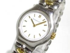 ティファニー 腕時計 テソロ L0112 レディース SS × K18YG 白