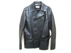 サンローランパリ コート メンズ 黒 2013年/レザー/冬物