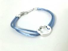 モンブラン ブレスレット美品  化学繊維×シルバー ライトブルー
