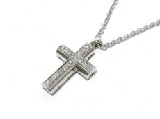 ブルガリ ネックレス美品  ラテンクロス K18WG×ダイヤモンド クロス