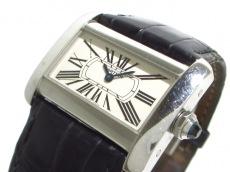 カルティエ 腕時計 ミニタンクディヴァン W6300255 レディース 白