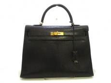 HERMES(エルメス) ハンドバッグ ケリー35 黒 外縫い/ゴールド金具