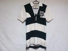 ラルフローレンラグビー 半袖ポロシャツ レディース 白×黒