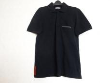プラダスポーツ 半袖ポロシャツ サイズM メンズ美品  黒