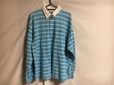 ラコステ 長袖ポロシャツ サイズ4 XL メンズ美品  ライトブルー×白