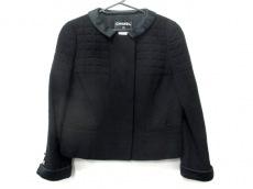 シャネル ジャケット サイズ42 L レディース美品  黒 キルティング