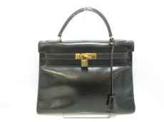 HERMES(エルメス) ハンドバッグ ケリー32 黒 内縫い/ゴールド金具