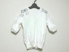 ルシェルブルー 半袖セーター サイズF レディース美品  白 レース