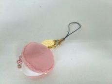 Q-pot.(キューポット) キーホルダー(チャーム) ピンク×白