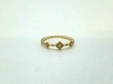 ete(エテ) リング美品  K10×ダイヤモンド 1Pダイヤ/0.01カラット