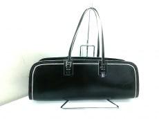 FENDI(フェンディ) ハンドバッグ - 黒×白 レザー