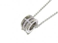 ブルガリ ネックレス美品  B-zero1 K18WG×ダイヤモンド 旧型